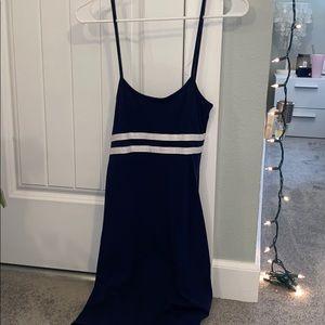 Brandy Melville Navy Blue Striped Dress